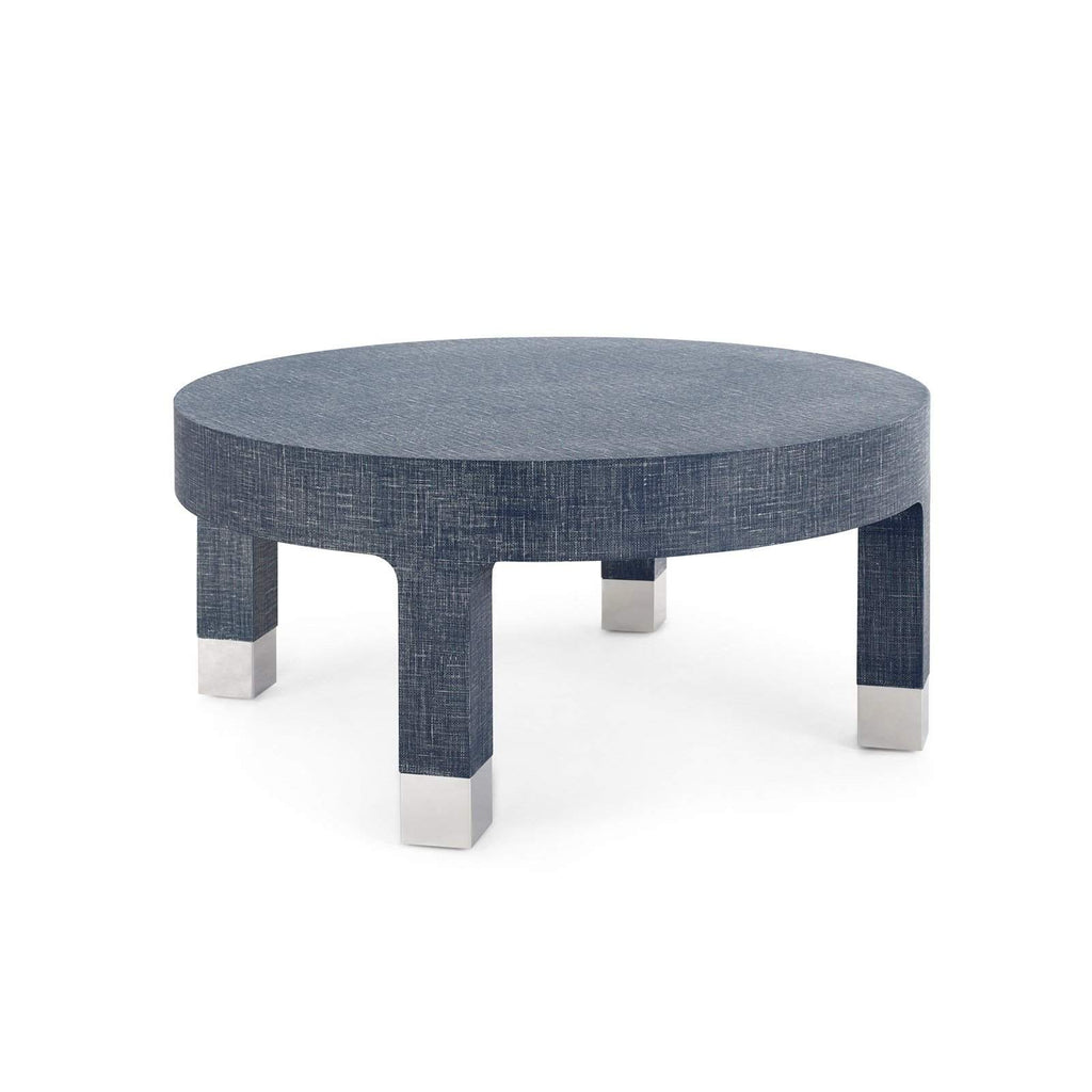 Bungalow 5 - DAKOTA ROUND COFFEE TABLE in NAVY BLUE-Bungalow 5-Blue Hand Home