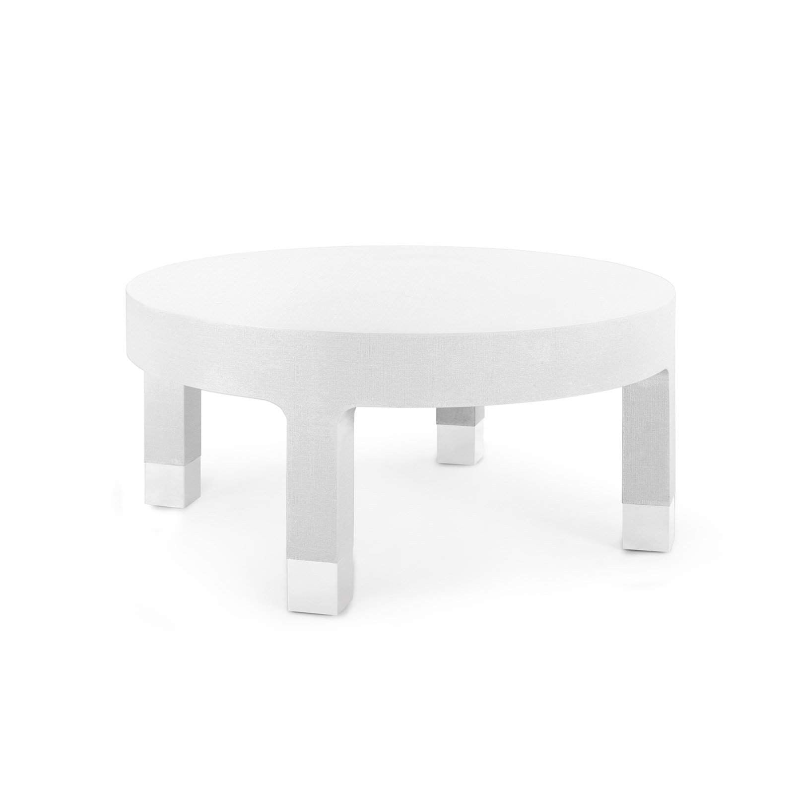 Bungalow 5 Dakota Round Coffee Table In White Blue Hand Home