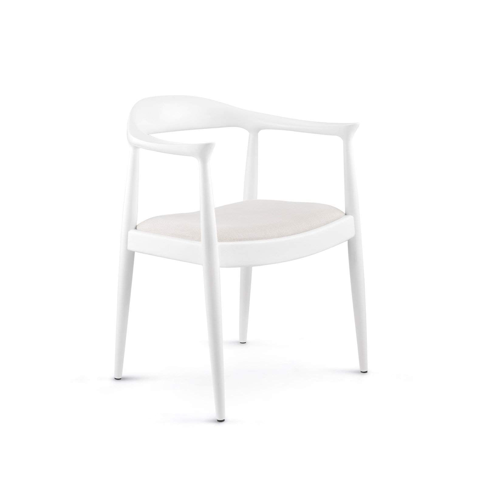 Bungalow 5 - DANISH ARMCHAIR in WHITE