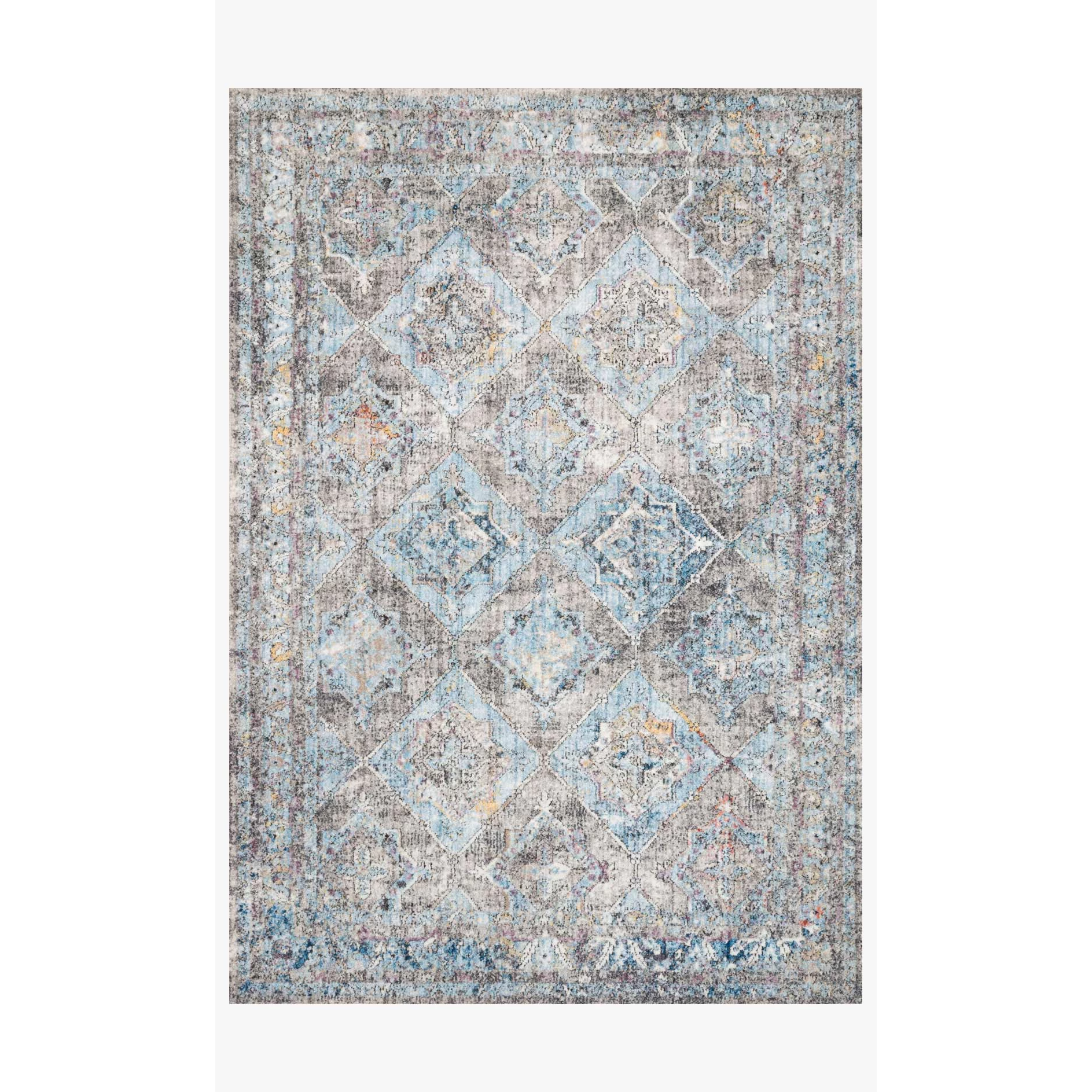 Dante Rugs by Loloi - DN-03 Granite / Lt. Blue-Loloi Rugs-Blue Hand Home