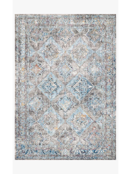 Dante Rugs by Loloi - DN-03 Granite / Lt. Blue