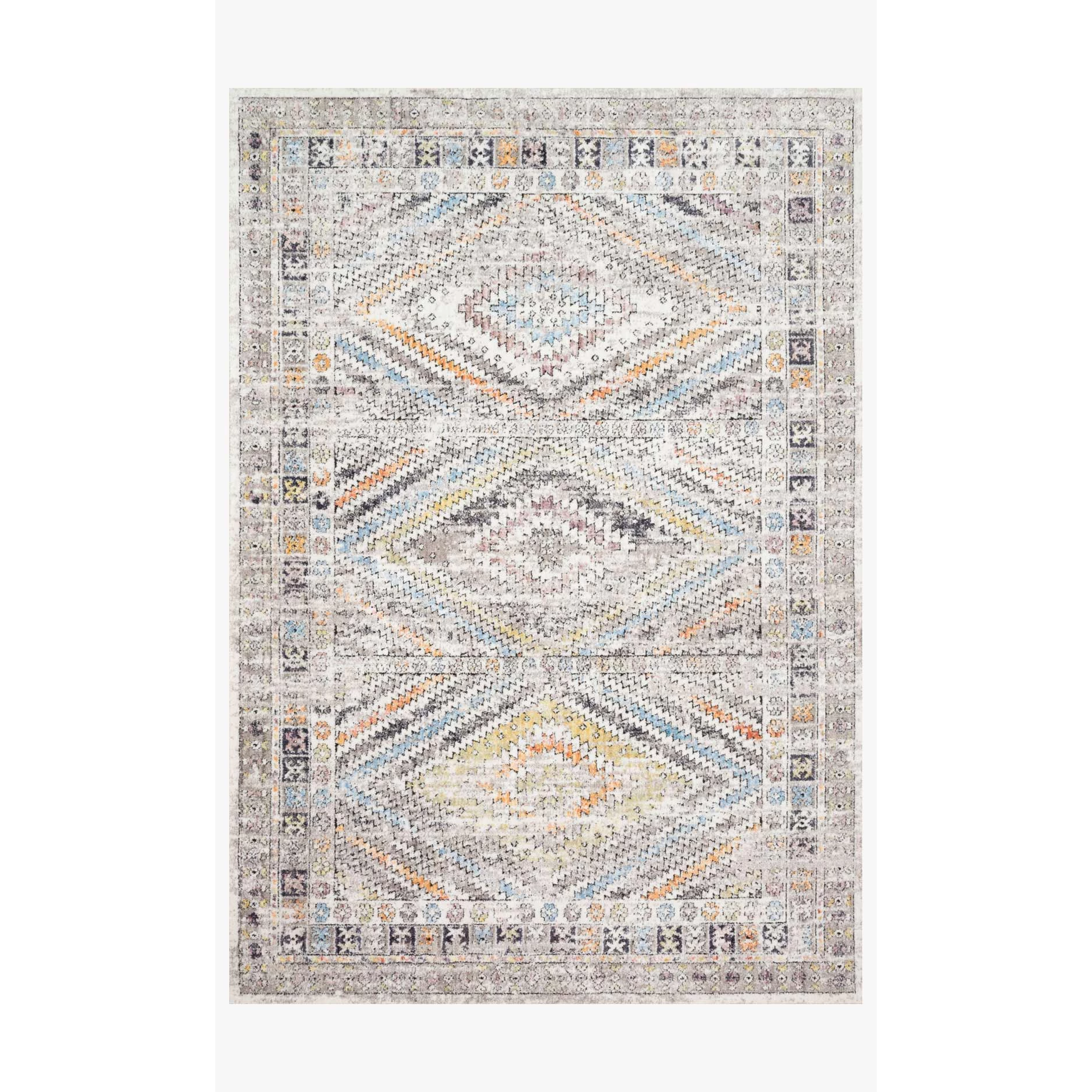 Dante Rugs by Loloi - DN-01 Ivory / Multi-Loloi Rugs-Blue Hand Home