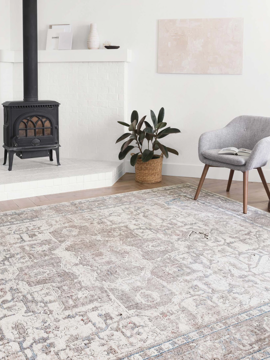 Dante Rugs by Loloi - DN-05 Ivory / Stone