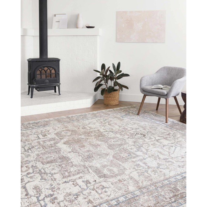 Dante Rugs by Loloi - DN-05 Ivory / Stone-Loloi Rugs-Blue Hand Home