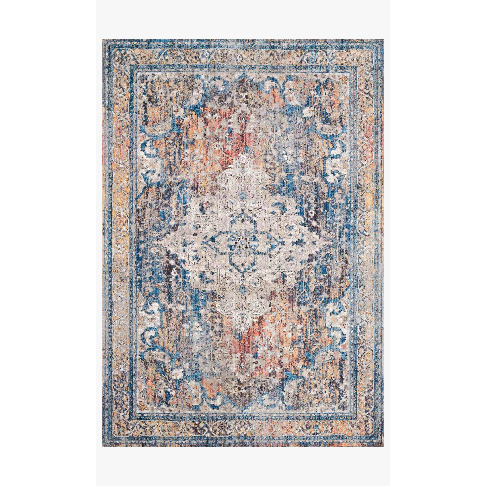 Dante Rugs by Loloi - DN-04 Multi / Stone-Loloi Rugs-Blue Hand Home