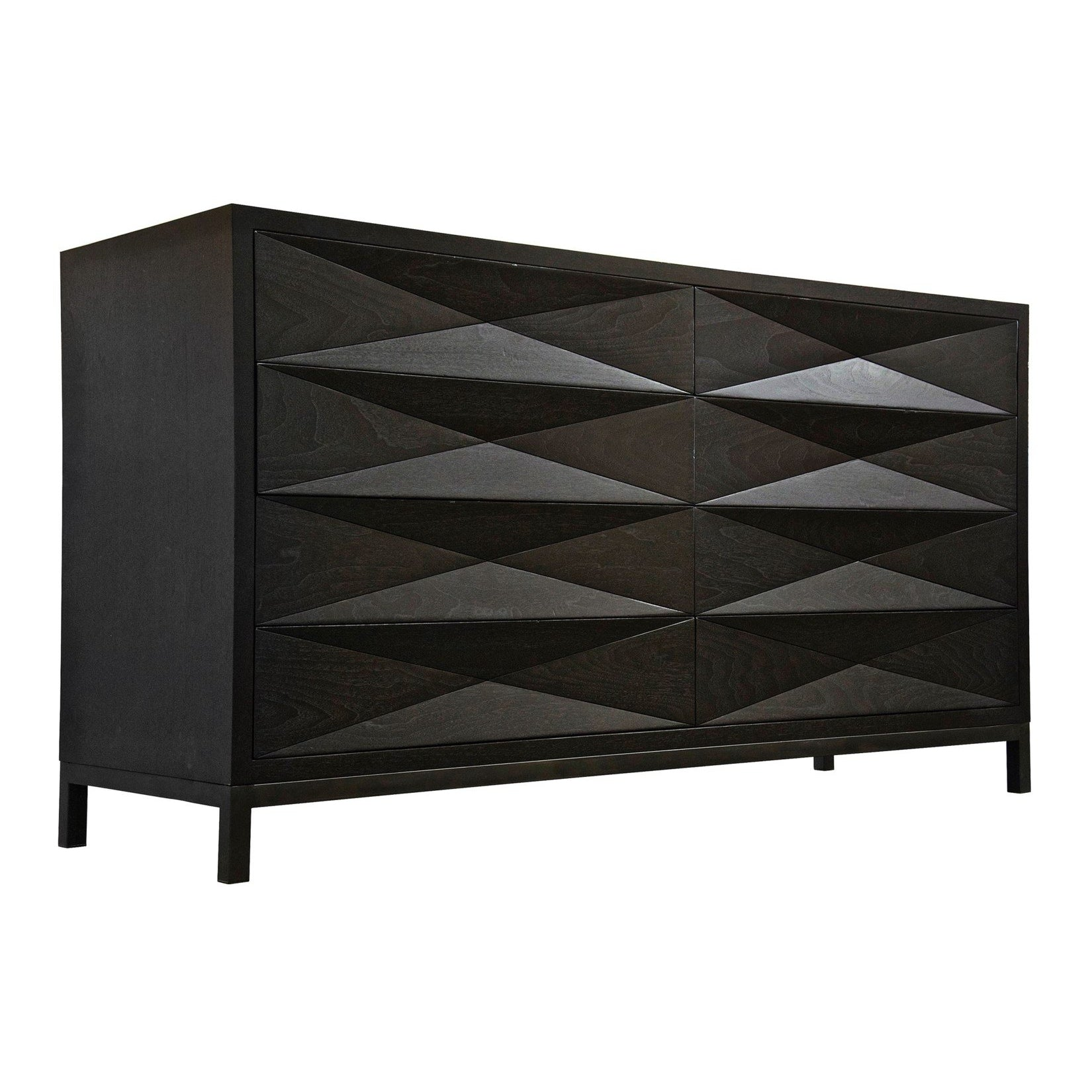 CFC Furniture Diamante 8 Drawer Dresser, Walnut