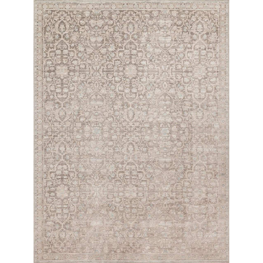 Joanna Gaines Magnolia Home Rug - Ella Rose Collection - Pewter / Pewter - Blue Hand Home