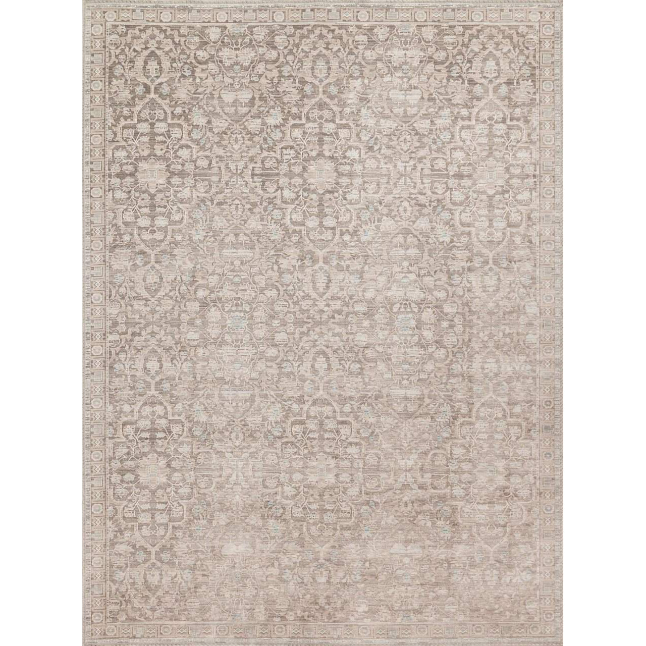 Joanna Gaines Magnolia Home Rug - Ella Rose Collection - Pewter / Pewter