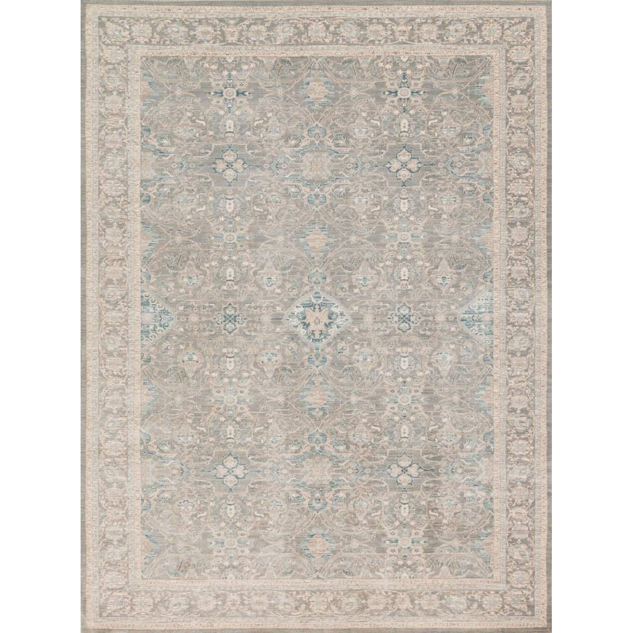 Joanna Gaines Magnolia Home Rug - Ella Rose Collection - Steel / Steel - Blue Hand Home