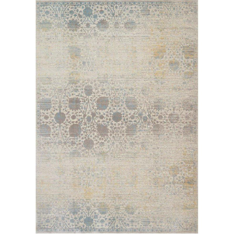 Joanna Gaines Magnolia Home Rug - Ella Rose Collection - Bone / Mist-Loloi Rugs-Blue Hand Home
