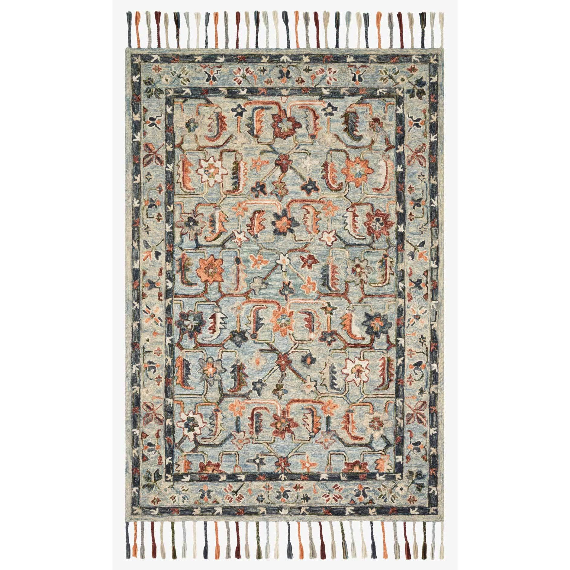 Elka Rugs by Loloi - ELK-01 - Sky / Multi-Loloi Rugs-Blue Hand Home