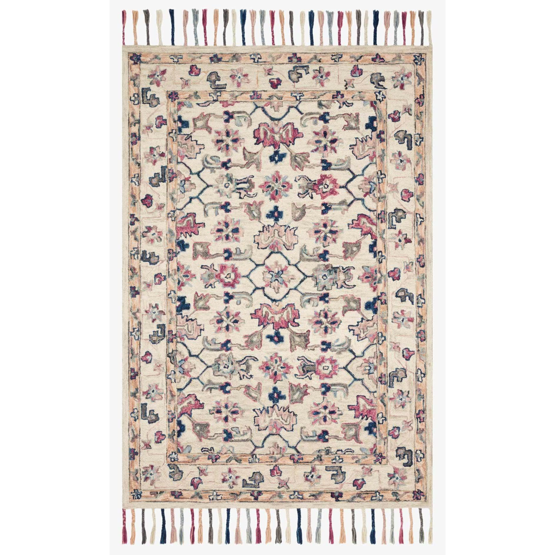 Elka Rugs by Loloi - ELK-02 - Ivory / Multi-Loloi Rugs-Blue Hand Home