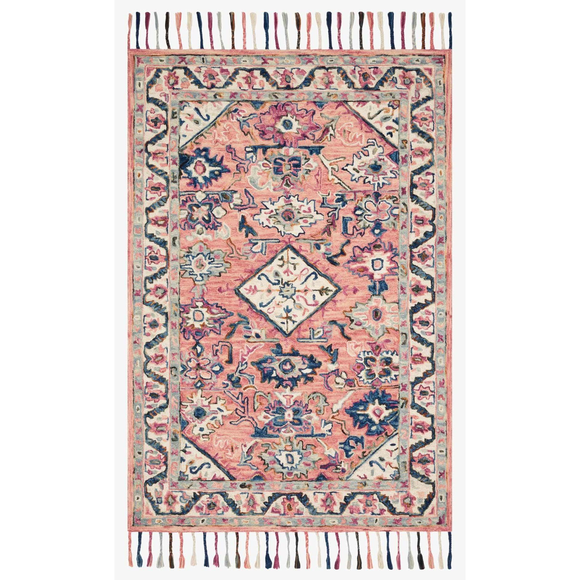 Elka Rugs by Loloi - ELK-04 - Pink / Multi-Loloi Rugs-Blue Hand Home