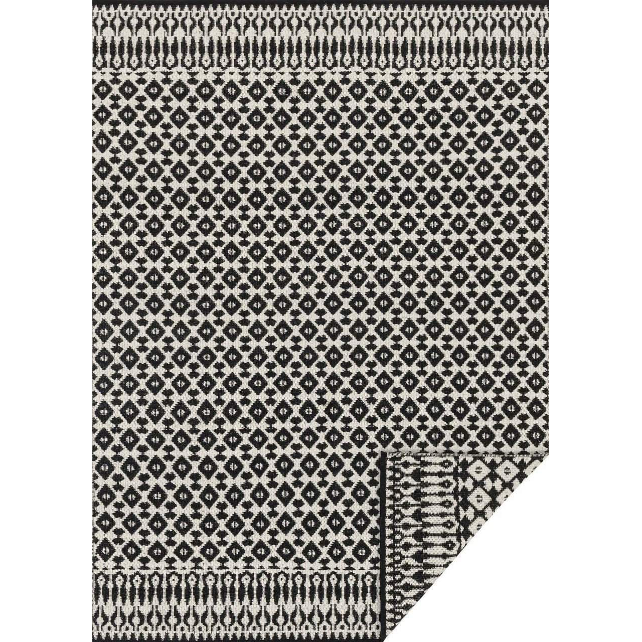 Joanna Gaines Rugs of Magnolia Home Rug Collection - Emmie Kay Collection - Ivory / Black - Blue Hand Home
