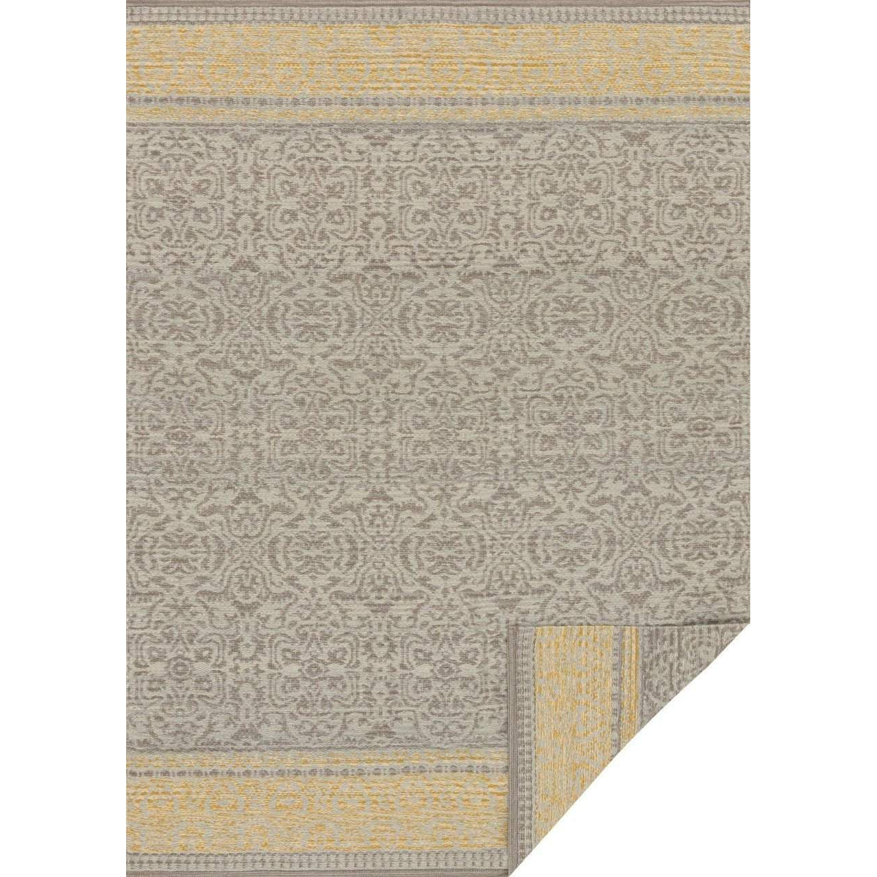 Joanna Gaines Rugs of Magnolia Home Rug Collection - Emmie Kay Collection - Grey / Maize - Blue Hand Home