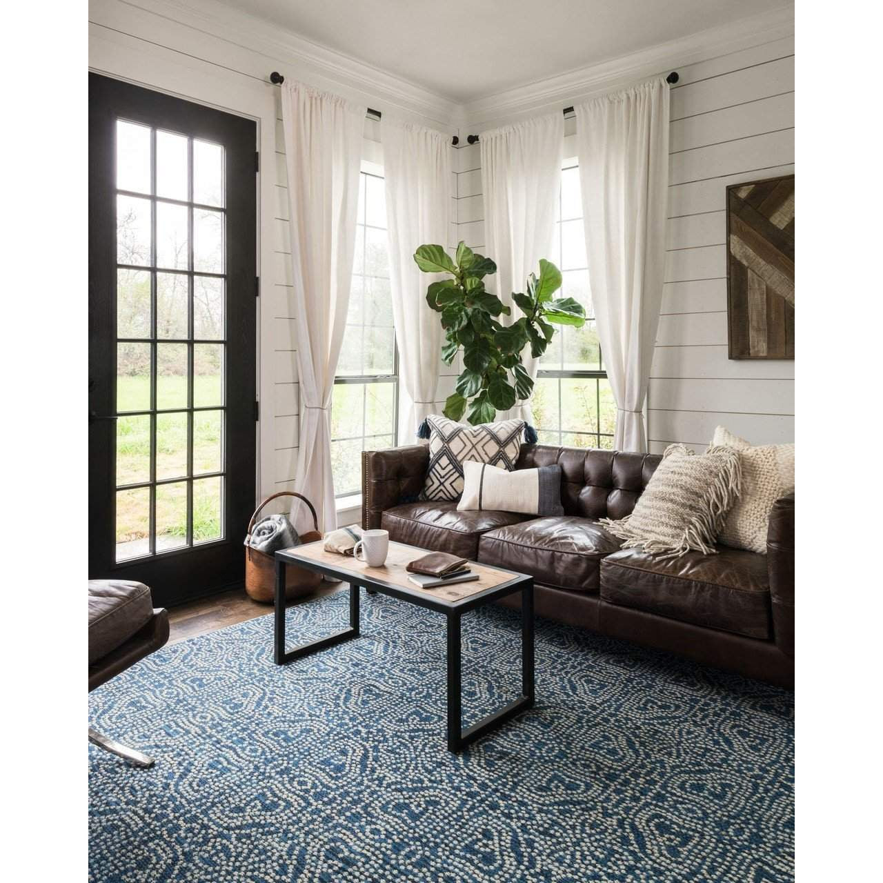 Joanna Gaines Of Magnolia Home Emmie Kay Rug Navy Cream