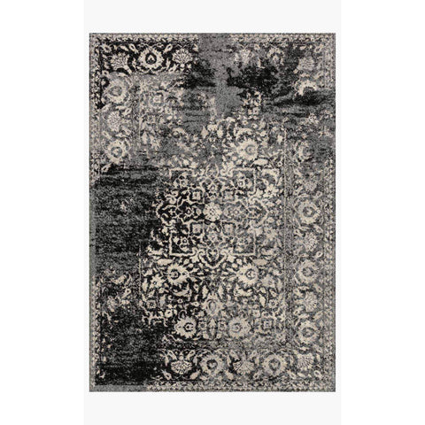 Emory Rugs by Loloi - EB-01 - Black / Ivory