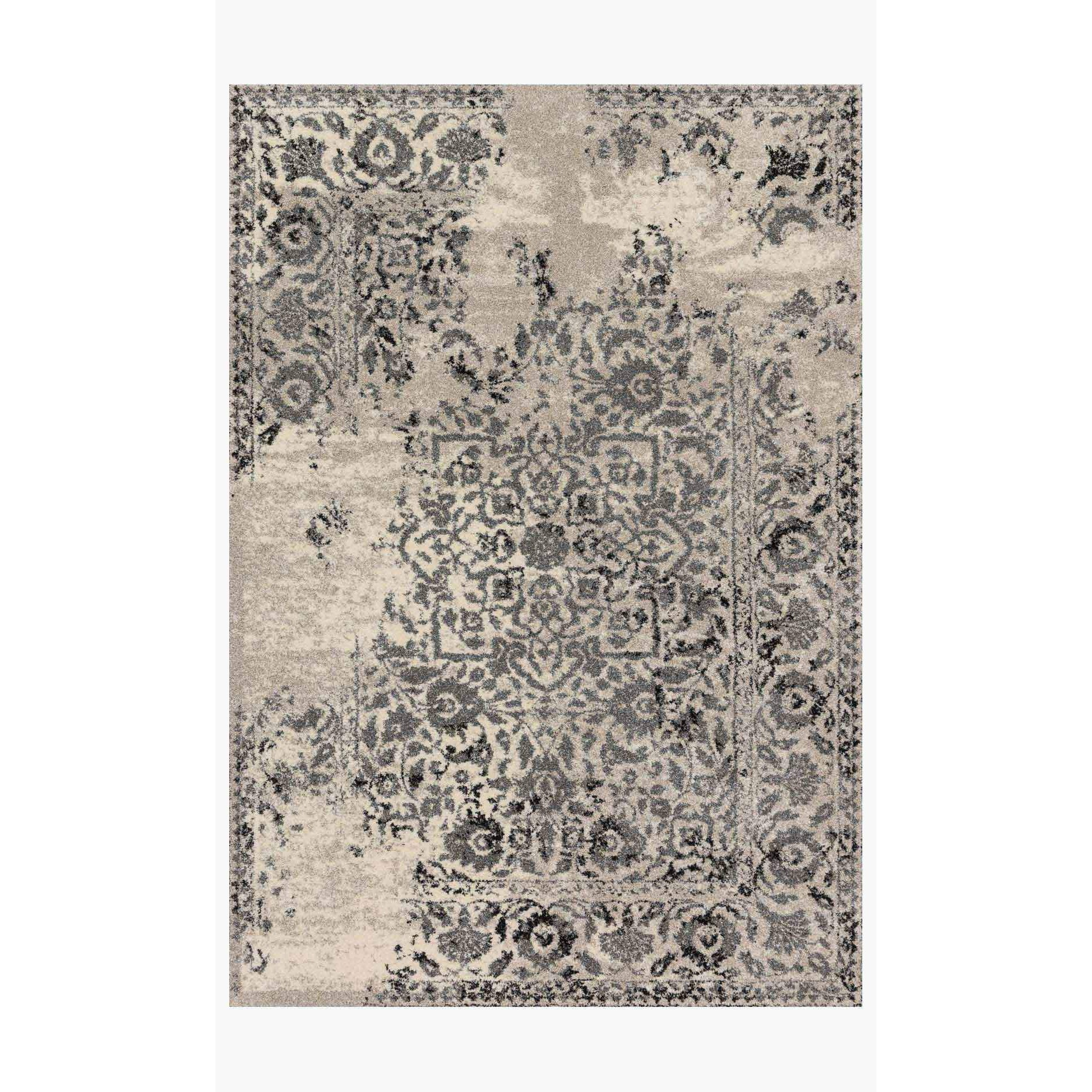 Emory Rug by Loloi Rugs - EB-01 - Ivory / Charcoal