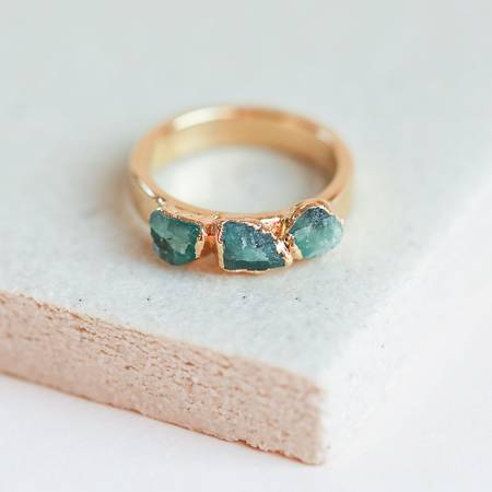 Emerald Stacking Ring-Dani Barbe-Blue Hand Home