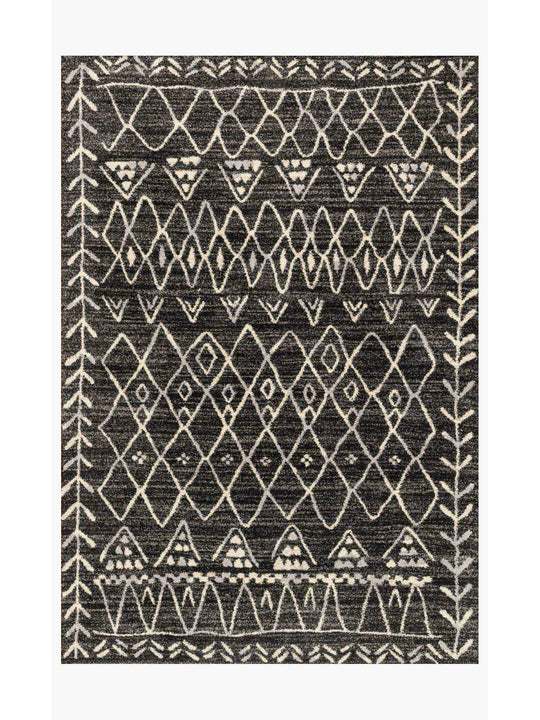 Emory Rugs by Loloi - EB-09 Black / Ivory