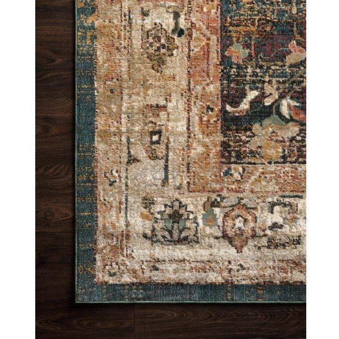 Joanna Gaines Evie Rug Collection - Ivory/Spice-Loloi Rugs-Blue Hand Home