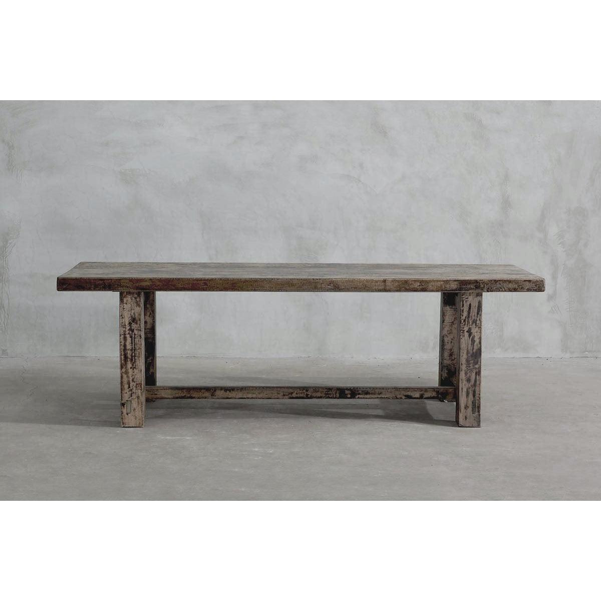 Reclaimed Elm Dining Table - Straight Frame Leg