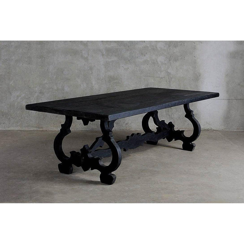 Reclaimed Elm Baroque Dining Table-Organic Restoration-Blue Hand Home