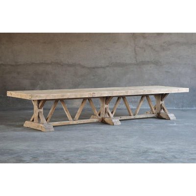 Salvaged Wood Trestle Dining Table - Large-Organic Restoration-Blue Hand Home