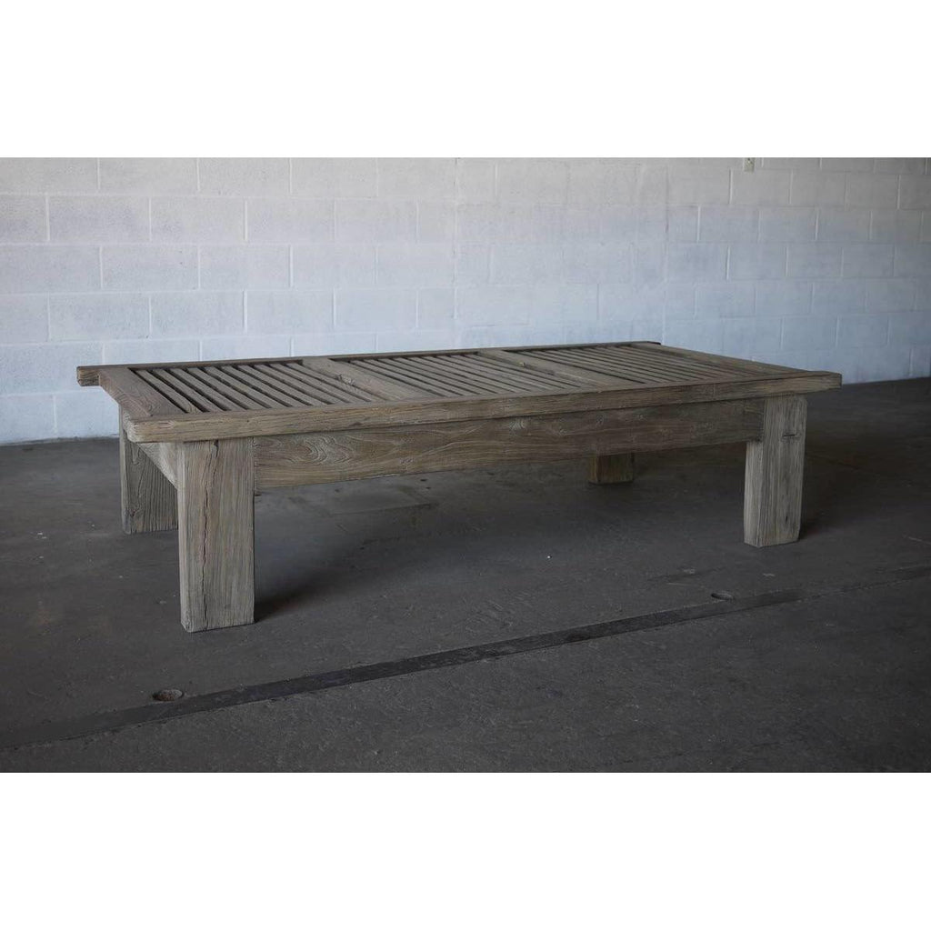 Reclaimed Elm Slatted Cocktail Table - Blue Hand Home