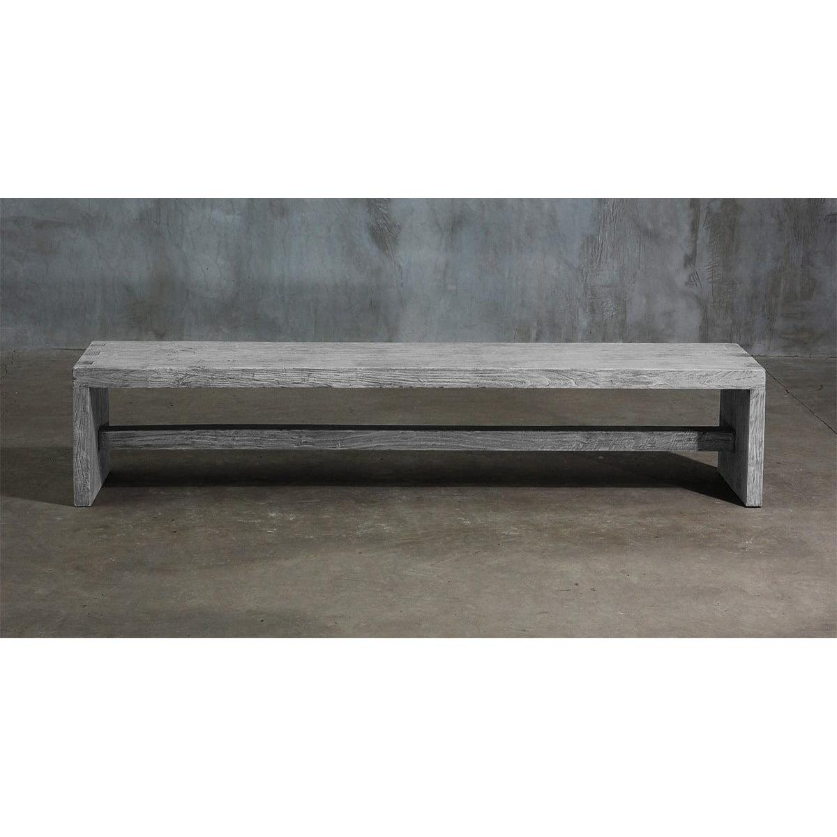 Dove Tail Elm Bench-Organic Restoration-Blue Hand Home