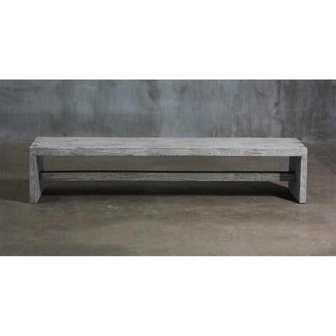 Dove Tail Elm Bench - Blue Hand Home