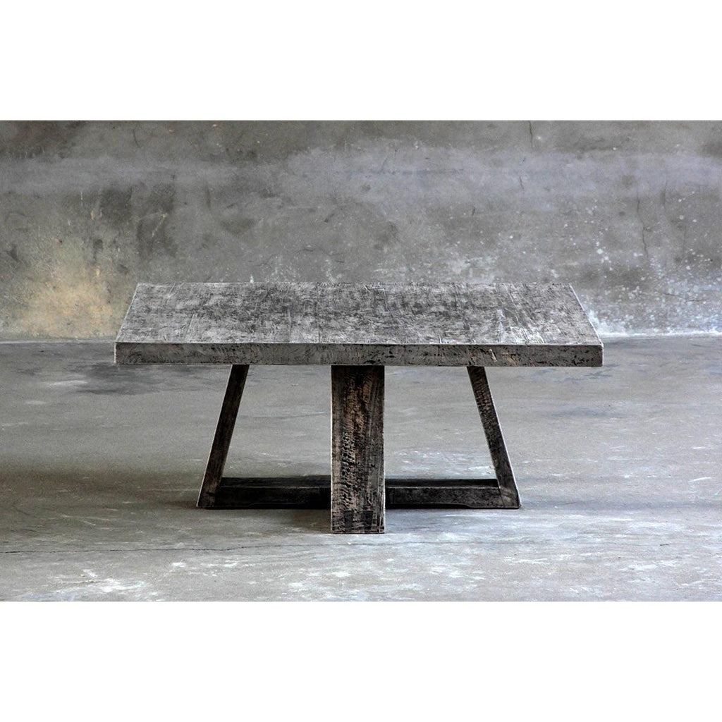 Reclaimed Elm Square Cocktail Table-Organic Restoration-Blue Hand Home