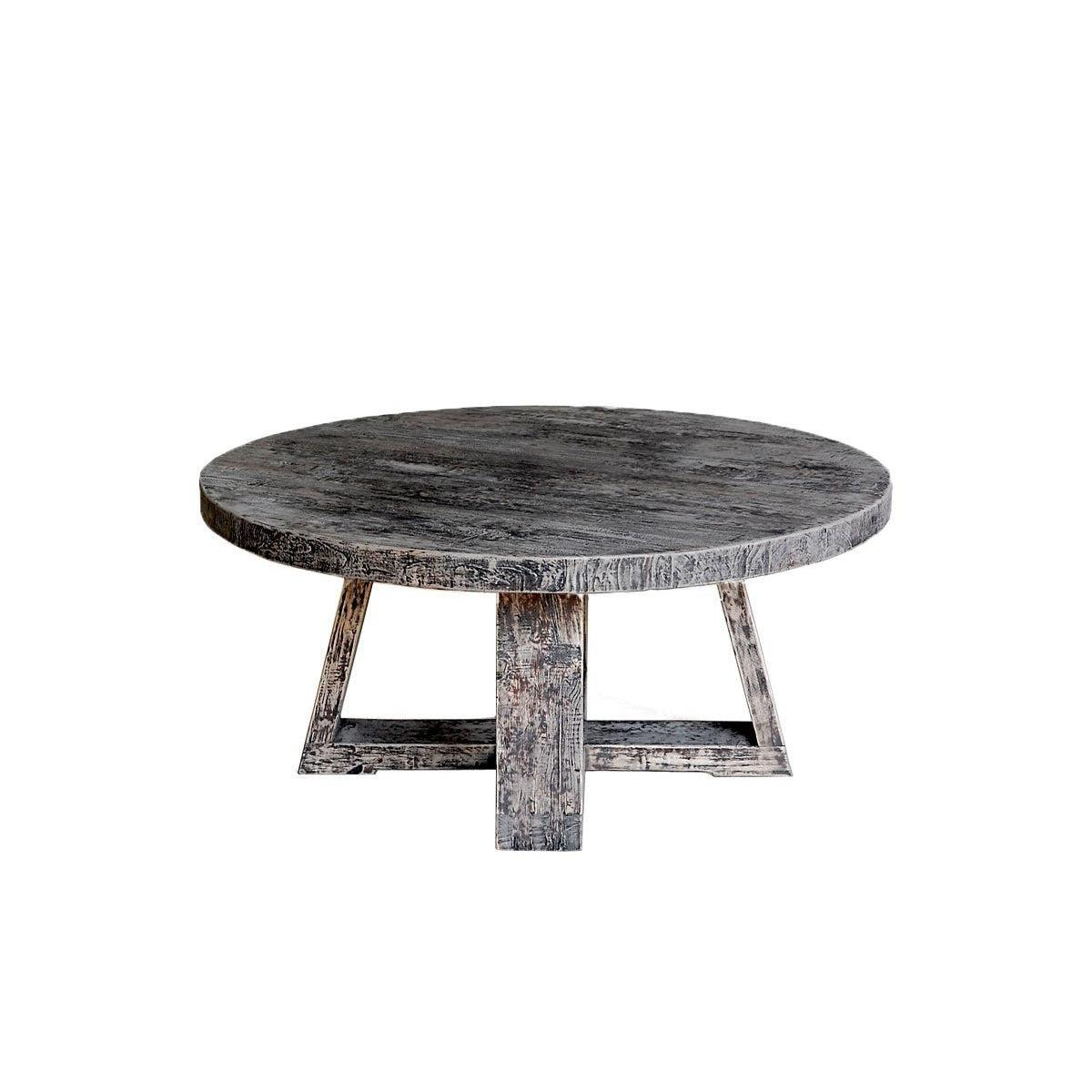 Reclaimed Elm Round Cocktail Table