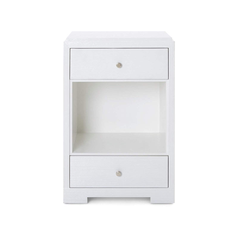 Bungalow 5 - FEDOR 2-DRAWER SIDE TABLE in WHITE-Bungalow 5-Blue Hand Home
