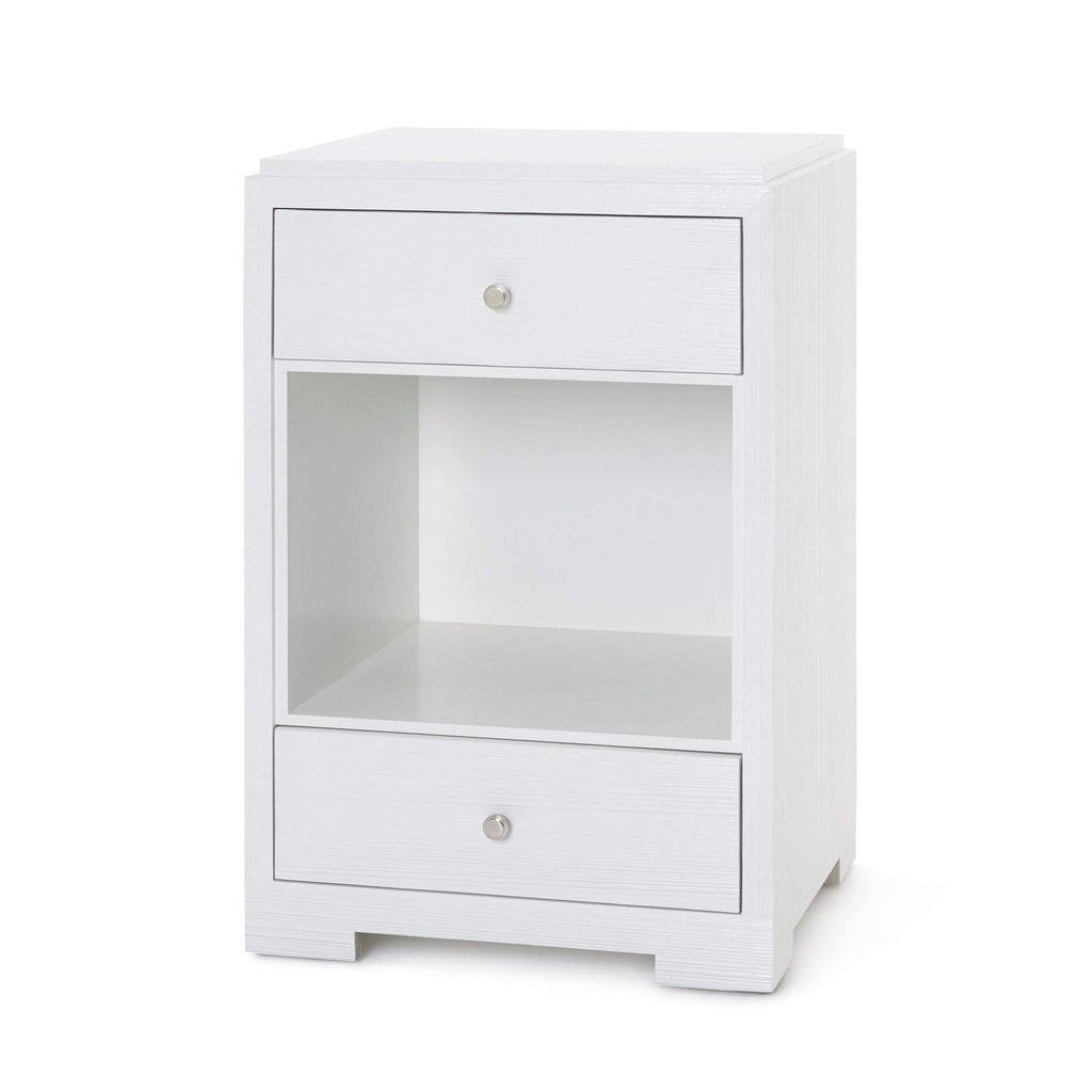 Bungalow 5 - FEDOR 2-DRAWER SIDE TABLE in WHITE - Blue Hand Home