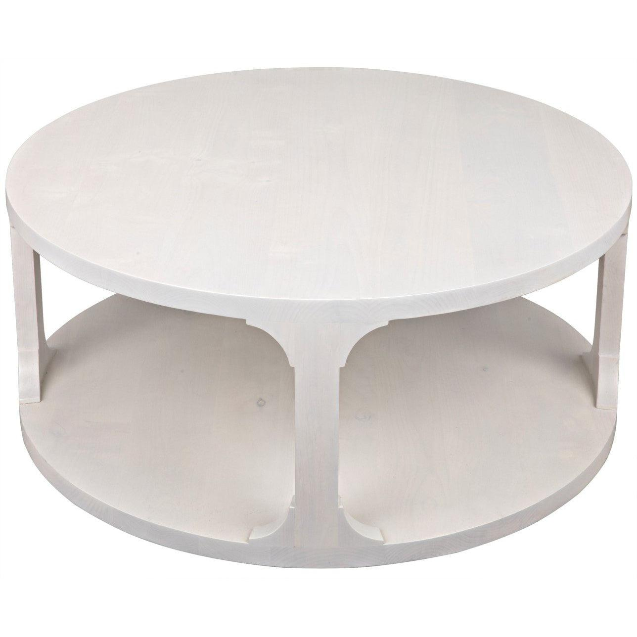 CFC Furniture Gimso Round Small Coffee Table, Alder