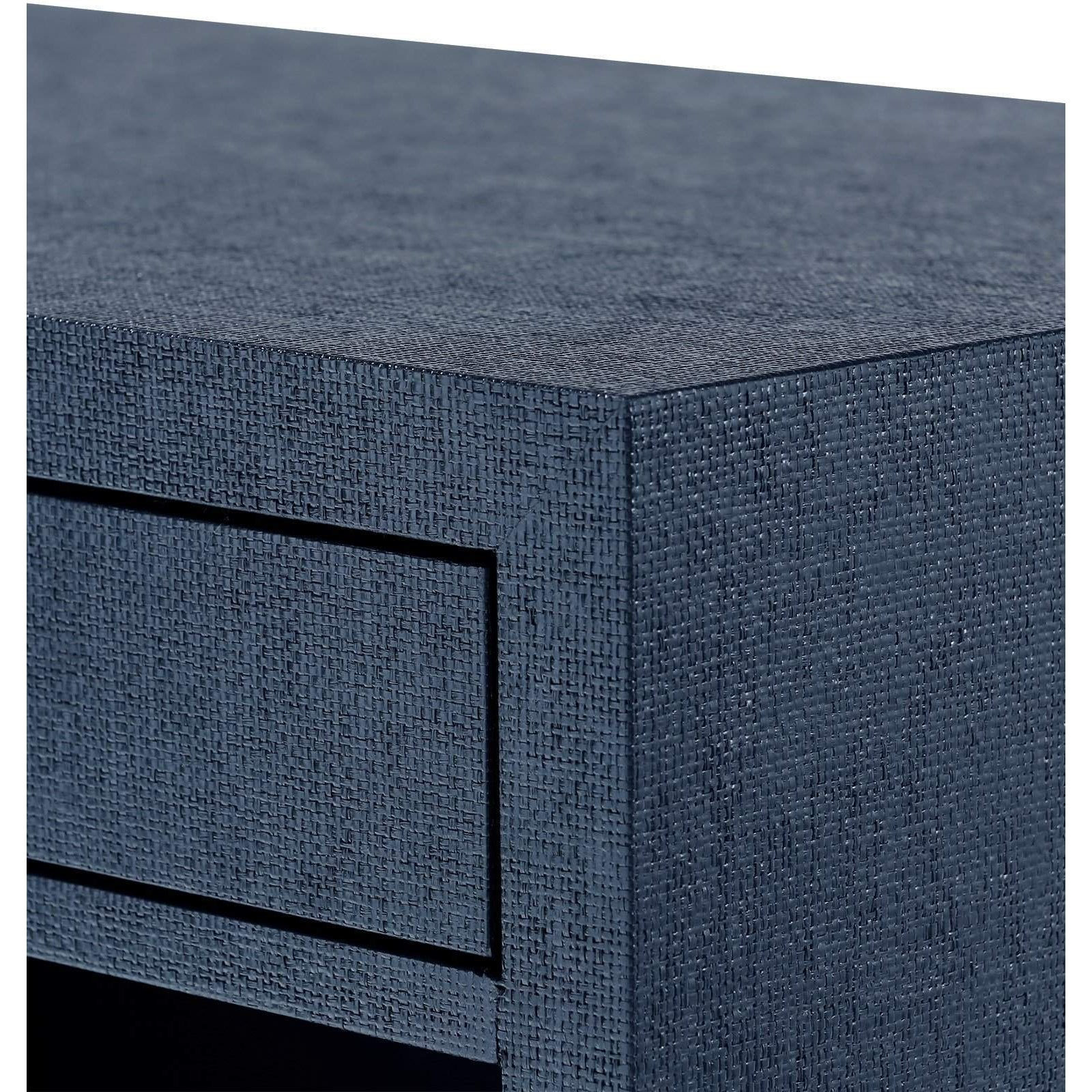 ... Bungalow 5   FRANCES 2 DRAWER SIDE TABLE In NAVY BLUE   Blue Hand Home  ...