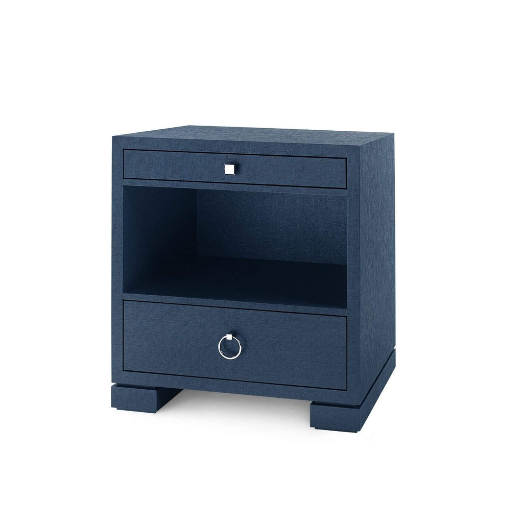 Bungalow 5 - FRANCES 2-DRAWER SIDE TABLE in NAVY BLUE - Blue Hand Home