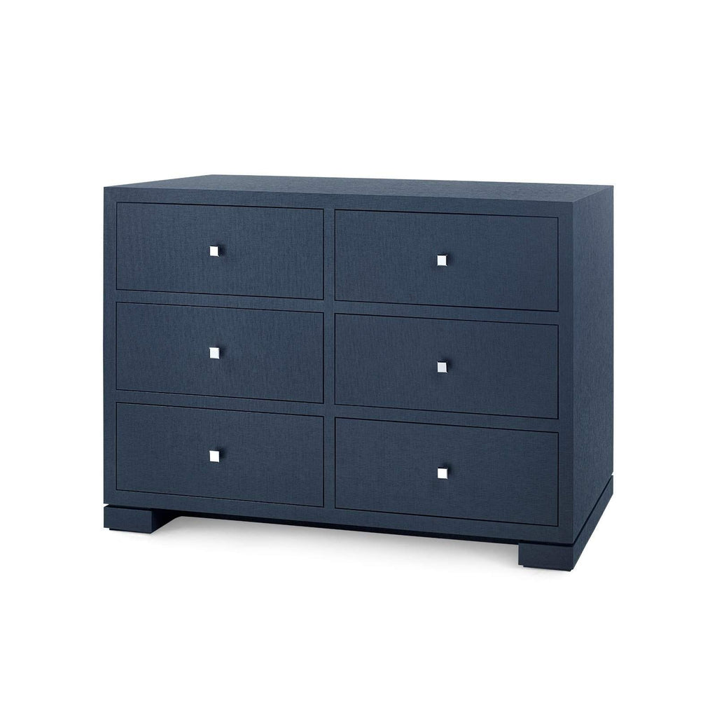 Bungalow 5 - FRANCES EXTRA LARGE 6-DRAWER in NAVY BLUE-Bungalow 5-Blue Hand Home