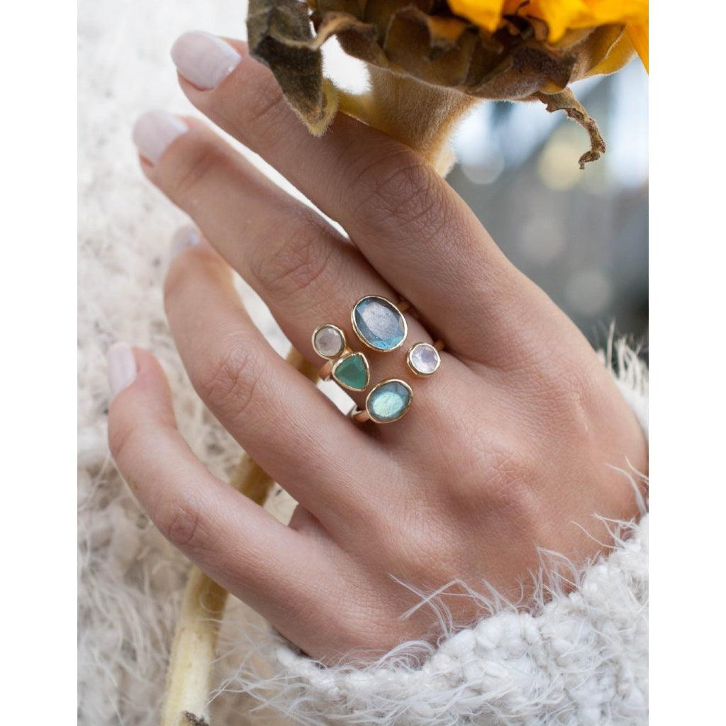 Felice Multi Stones Ring-ByCila-Blue Hand Home