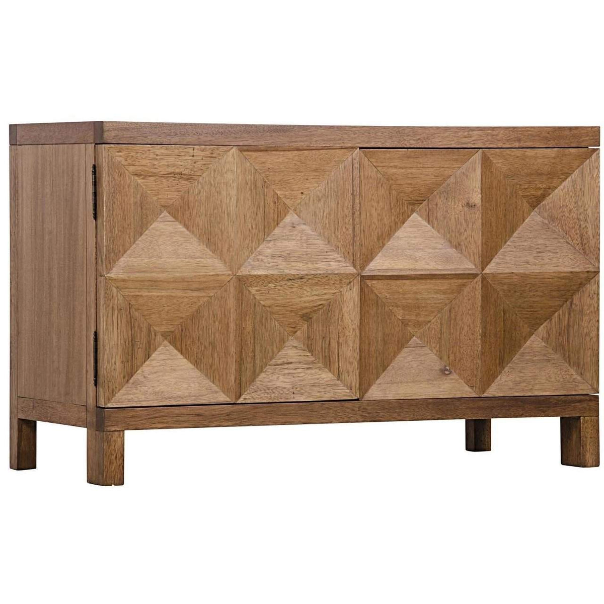 Noir Quadrant 2 Door Sideboard, Dark Walnut-Noir Furniture-Blue Hand Home