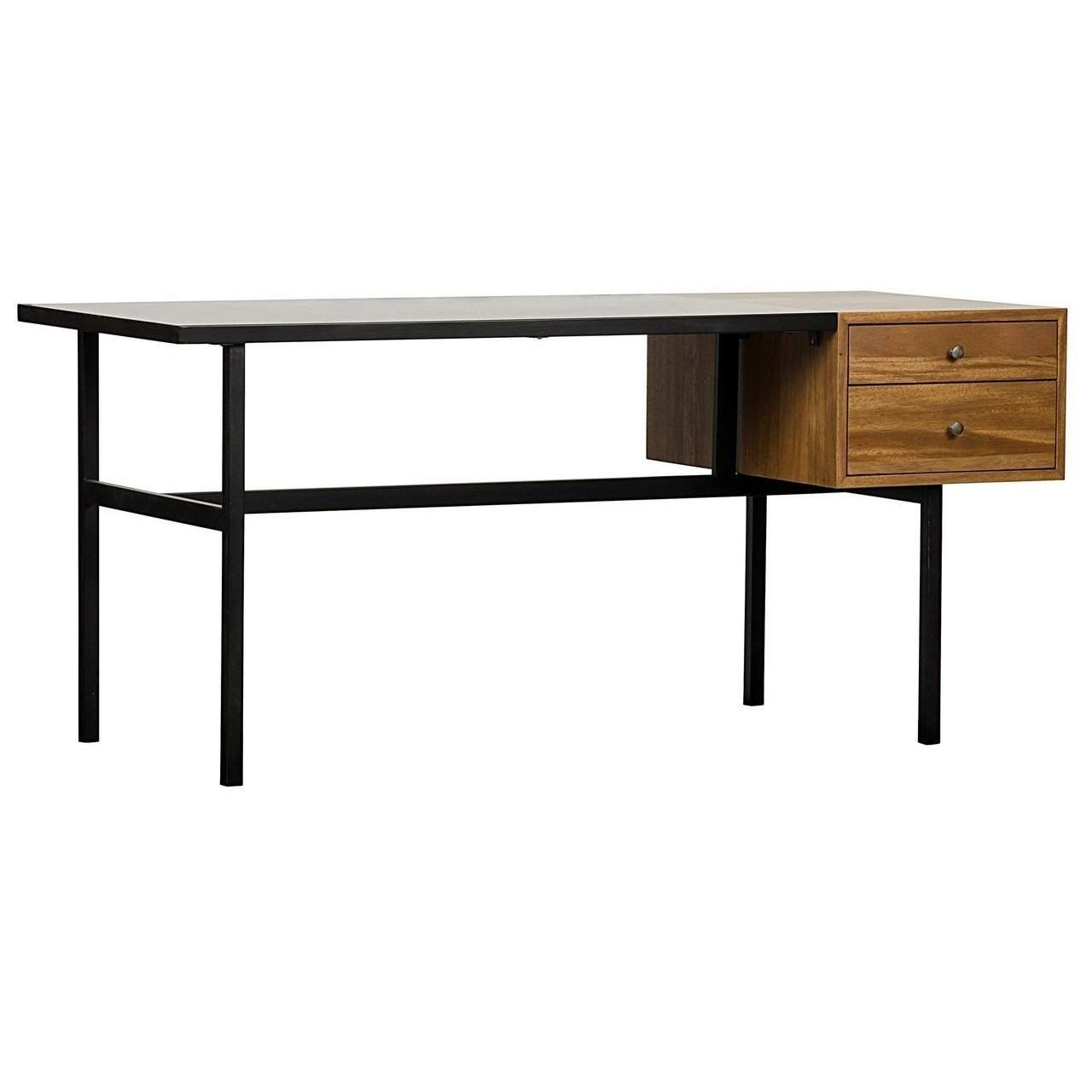 Noir Algeron Desk w/ Metal