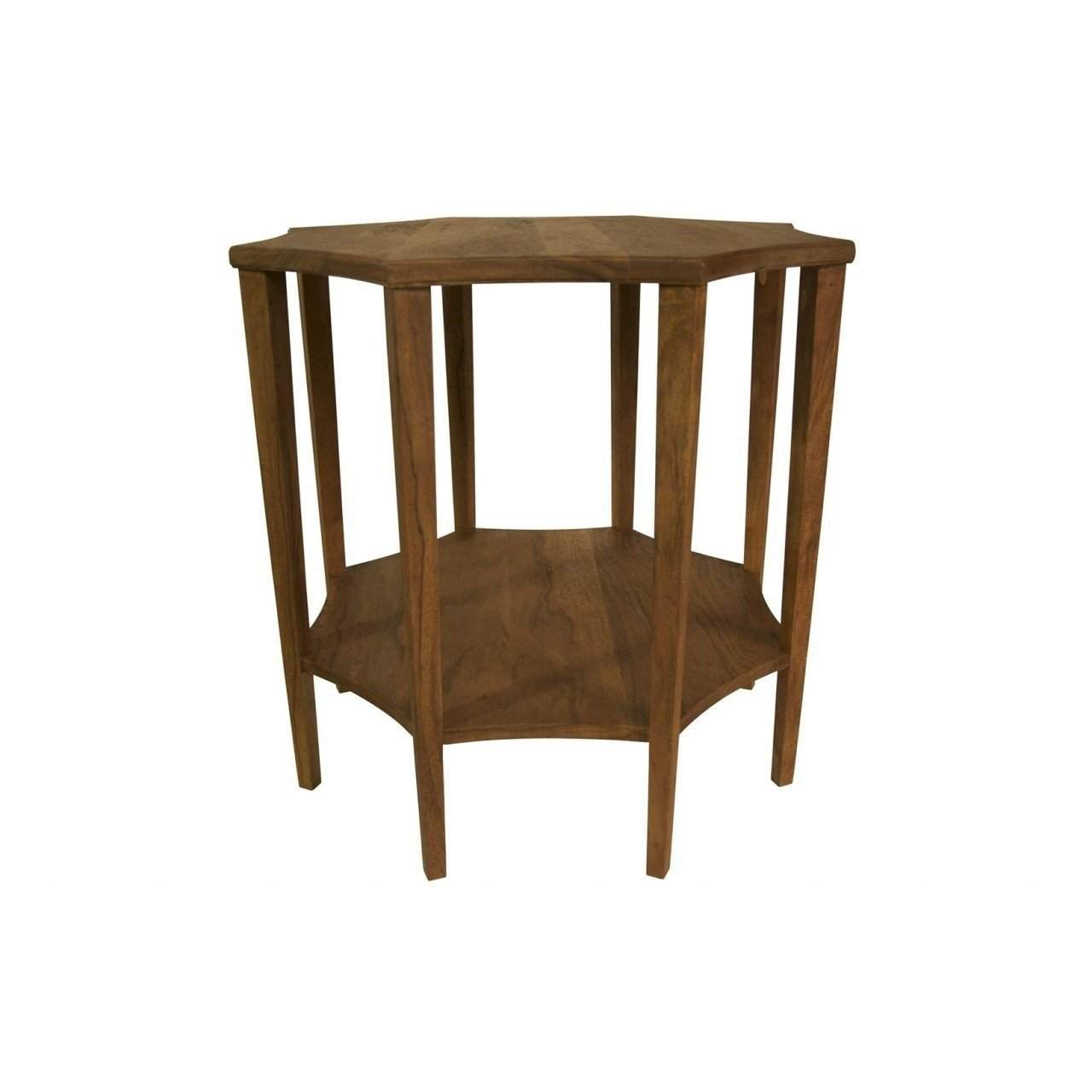 Noir Ariana Side Table, Dark Walnut   Blue Hand Home