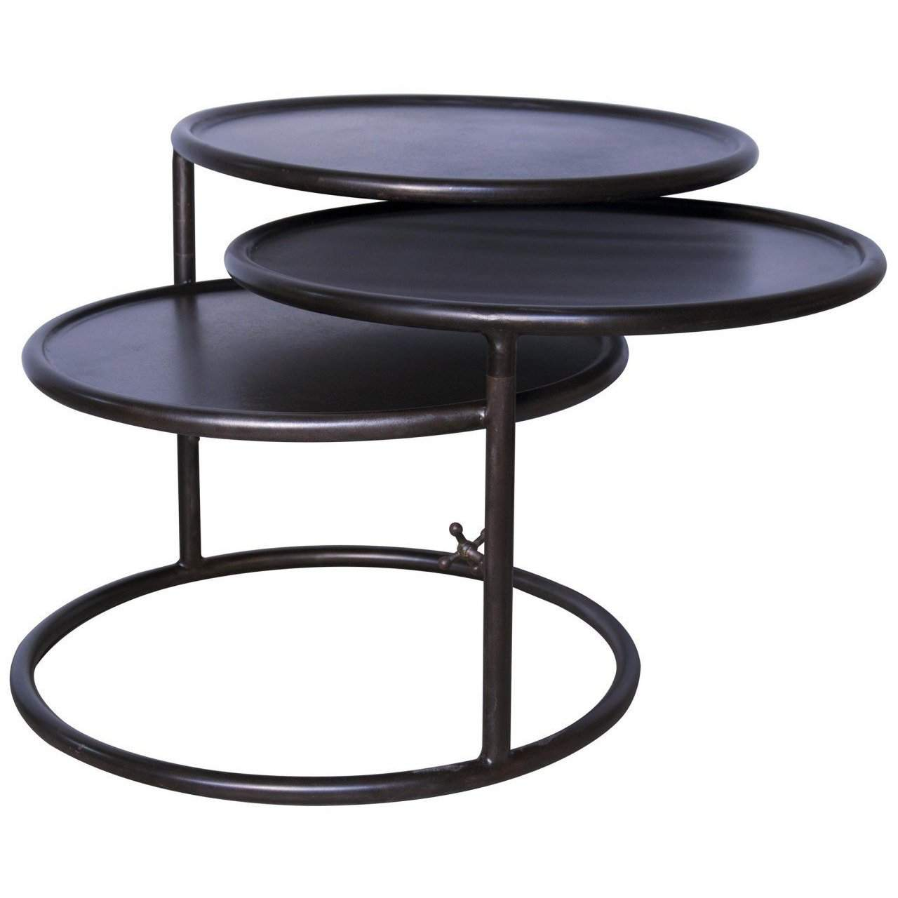 Noir Baxter Side Table - Blue Hand Home