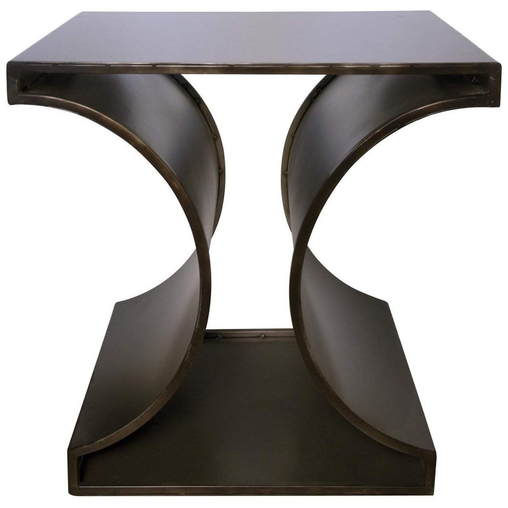 Noir Alec Side Table - Blue Hand Home