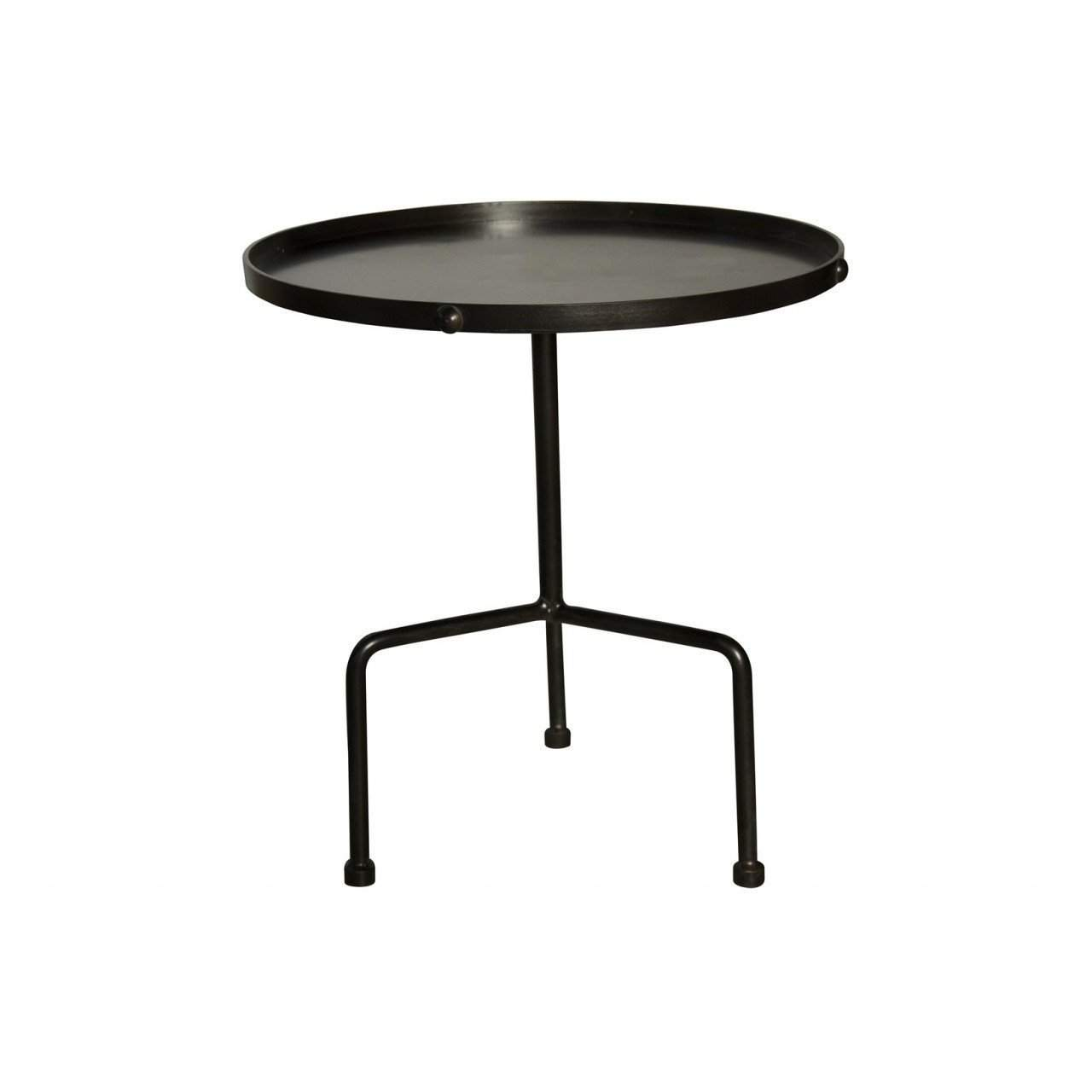 Noir Paige Side Table, Metal