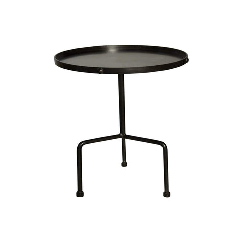 Noir Paige Side Table, Metal - Blue Hand Home