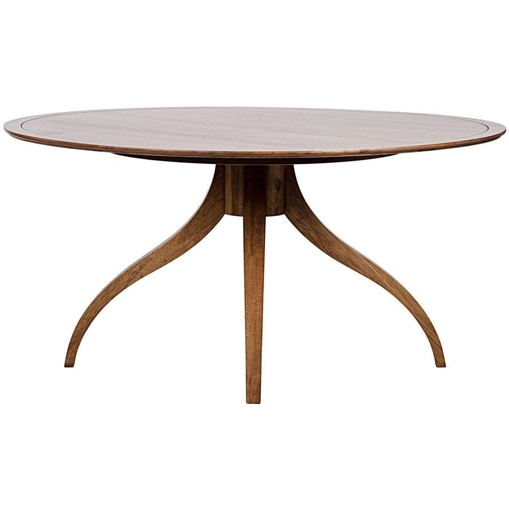 Noir Vera Dining Table, Dark Walnut - Blue Hand Home