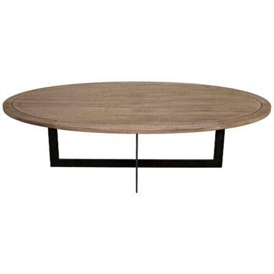 Noir Gauge Coffee Table, Metal & Washed Walnut