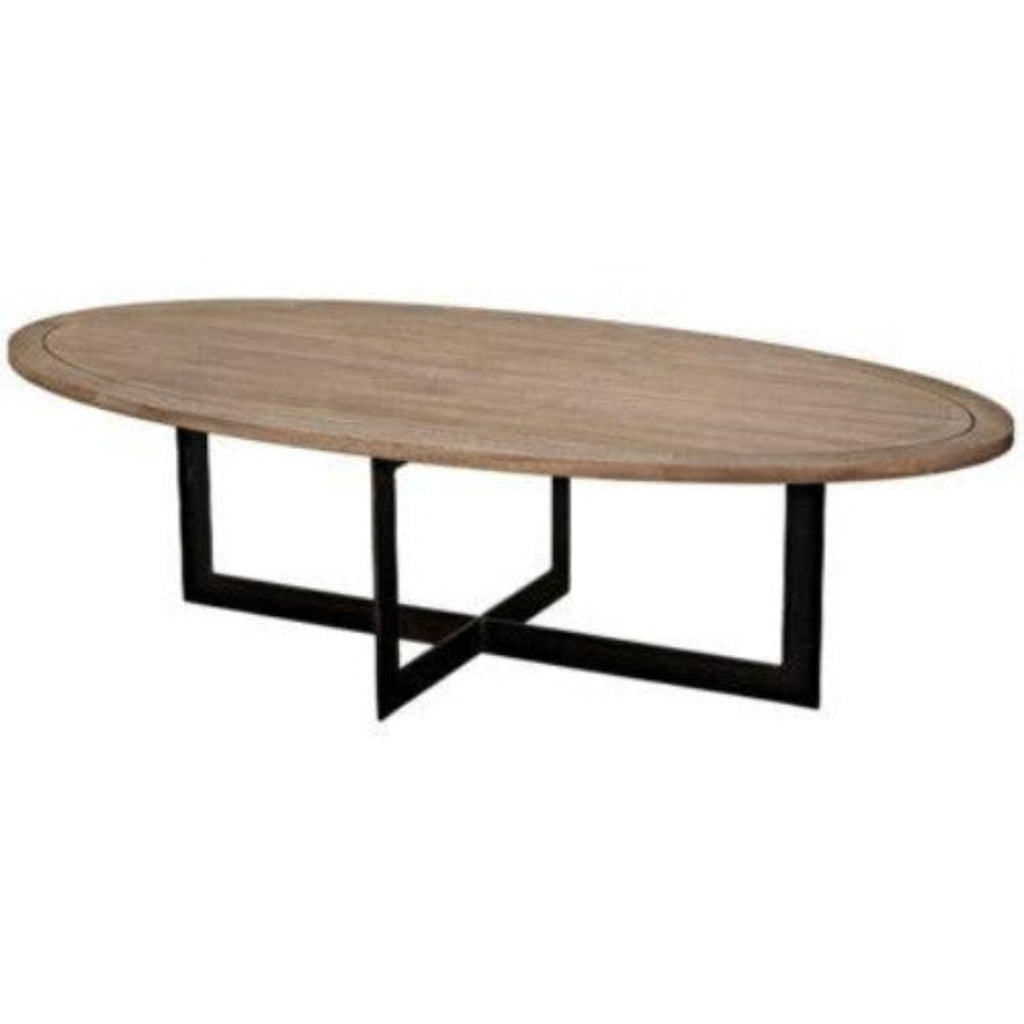 Noir Gauge Coffee Table, Metal & Washed Walnut-Noir Furniture-Blue Hand Home